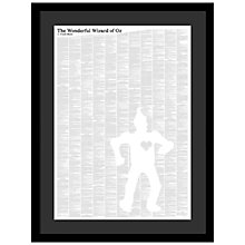 Buy Spineless Classics - Wizard of Oz Framed Print, 84 x 64cm Online at johnlewis.com