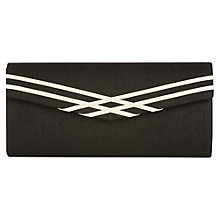 Buy Jacques Vert Clutch Handbag, Pearl/Black Online at johnlewis.com