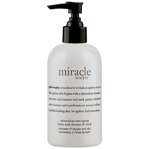 Buy Philosophy Miracle Worker Anti-Ageing Lactic Acid Cleanser & Mask , 240ml Online at johnlewis.com