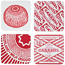 Buy Gillian Kyle Tunnock's Teacake & Caramel Wafer Coaster, Pack of Four Online at johnlewis.com