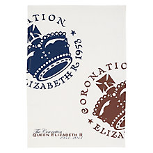 Buy The Queen's Coronation Tea Towel Online at johnlewis.com