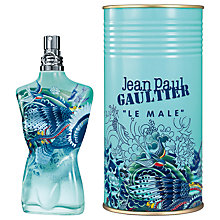 Buy Jean Paul Gaultier Le Male Summer Edition Eau de Toilette, 125ml Online at johnlewis.com