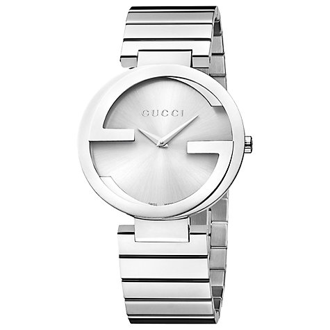 Buy Gucci YA133308 Men's Interlocking G Bracelet Strap Watch, Silver Online at johnlewis.com