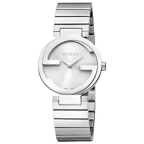 Buy Gucci YA133503 Women's Interlocking G Bracelet Strap Watch, Silver Online at johnlewis.com
