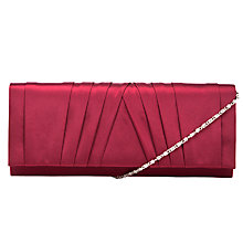 Buy John Lewis Shaftsbury Satin Fold-Over Clutch Handbag, Red Online at johnlewis.com