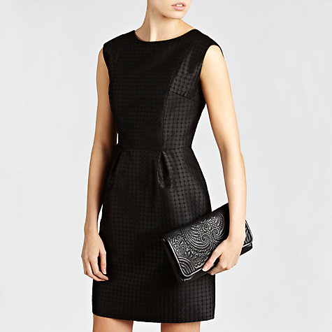 Buy COLLECTION by John Lewis Hilary Stitched Clutch Handbag, Black Online at johnlewis.com