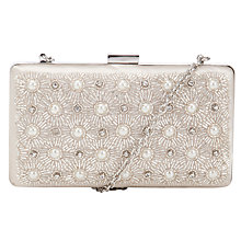 Buy John Lewis Toni Embellished Clutch Handbag, Ivory Online at johnlewis.com
