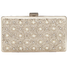 Buy John Lewis Toni Embellished Clutch Bag, Ivory Online at johnlewis.com