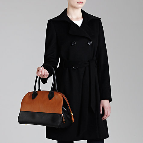 Buy COLLECTION by John Lewis Grainy Colourblock Bowler Handbag Online at johnlewis.com