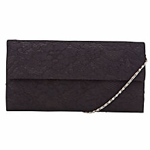 Buy John Lewis Marie Lace Foldover Clutch Handbag, Black Online at johnlewis.com