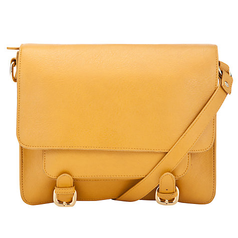 Buy COLLECTION by John Lewis New Grainy Satchel Handbag, Yellow Online at johnlewis.com