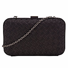 Buy COLLECTION by John Lewis Amanda Weave Box Clutch Handbag, Black Online at johnlewis.com
