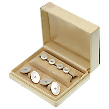 Buy Jenny Knott Diamond and Mother of Pearl Cufflink and Studs Set, White/Gold Online at johnlewis.com