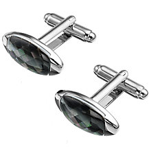 Buy Simon Carter Check Gherkin Cufflinks Online at johnlewis.com
