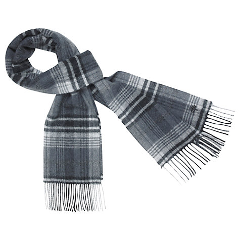 Buy Mulberry Check Merino Cashmere Scarf Online at johnlewis.com