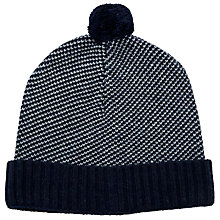 Buy JOHN LEWIS & Co. Birdseye Bobble Hat, One Size, Navy Online at johnlewis.com