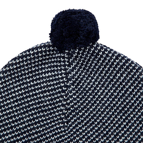Buy JOHN LEWIS & Co. Birdseye Bobble Hat, Navy Online at johnlewis.com