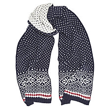Buy JOHN LEWIS & Co. Flake Fair Isle Scarf, Navy Online at johnlewis.com