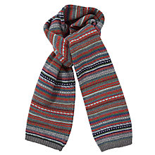 Buy JOHN LEWIS & Co. Fair Isle Wool Scarf, Multi Online at johnlewis.com