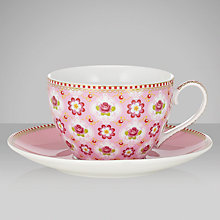 Buy PiP Studio Blossom Cup & Saucer, 0.3L, Pink Online at johnlewis.com