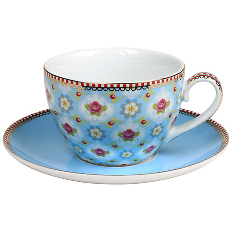 Buy PiP Studio Blossom Cup & Saucer, 0.3L, Blue Online at johnlewis.com