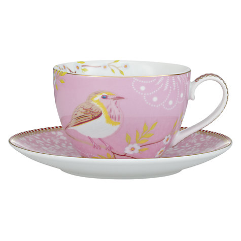 Buy PiP Studio Shabby Chic Cup & Saucer, Set of 4, Pink Online at johnlewis.com