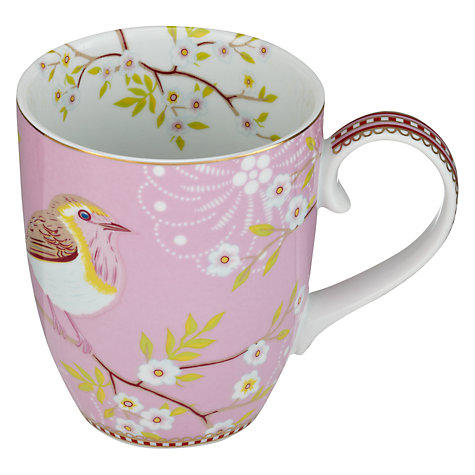 Buy Pip Studio Ribbon Rose Mug, Set of 4, 0.35L, Pink Online at johnlewis.com