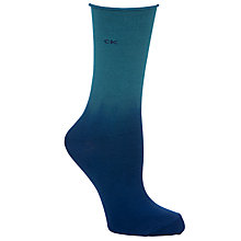 Buy Calvin Klein Dip Dye Roll Top Ankle Socks, Blue/Green Online at johnlewis.com