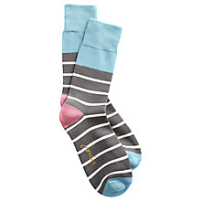 Buy Joules Bamboo Stripe Ankle Socks, Pack of 1 Online at johnlewis.com