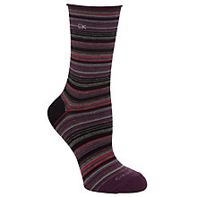 Buy Calvin Klein Mini Stripe Roll Top Crew Socks Online at johnlewis.com