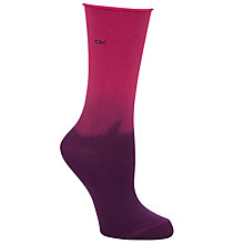 Buy Calvin Klein Dip Dye Roll Edge Ankle Socks, Mulberry Online at johnlewis.com