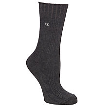 Buy Calvin Klein Cable Knit Ankle Socks Online at johnlewis.com