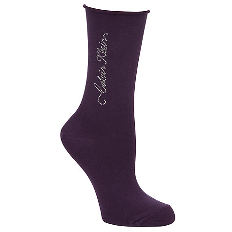 Buy Calvin Klein Studded Script Roll Top Crew Socks Online at johnlewis.com