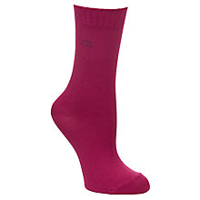Buy Calvin Klein Holiday Cotton Crew Ankle Socks in a Tin, Pack of 3, Pink Online at johnlewis.com
