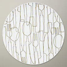 Buy Orla Kiely Knives and Forks Dinner Plate Online at johnlewis.com