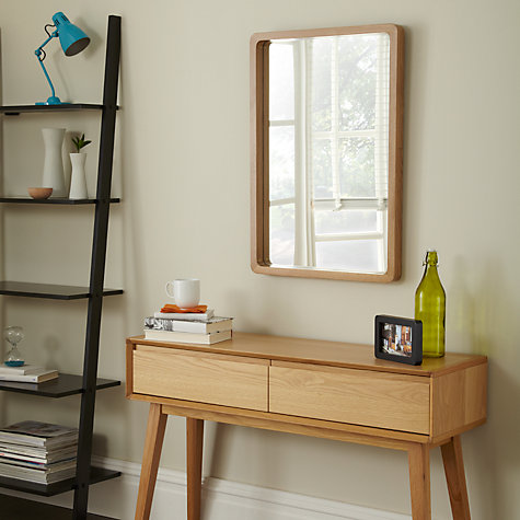 Buy House by John Lewis Rounded Corner Mirror, White, 75 x 50cm Online at johnlewis.com