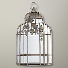 Buy John Lewis Birdcage Mirror, Silver, 45 x 26cm Online at johnlewis.com