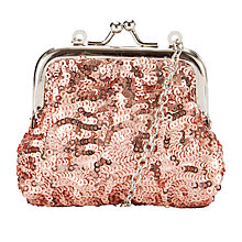 Buy John Lewis Girl Sequin Purse, Peach Online at johnlewis.com