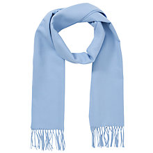 Buy John Lewis Cashmink Plain Scarf, Light Blue Online at johnlewis.com