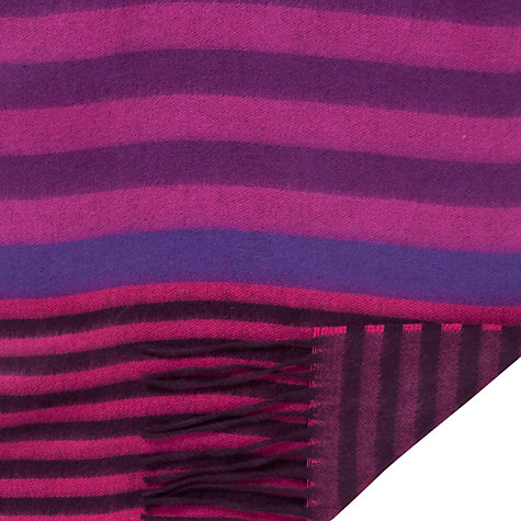 Buy John Lewis Cashmink Stripe Scarf, Plum Online at johnlewis.com