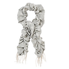 Buy John Lewis Cashmink Bouncy Spot Scarf, Grey Online at johnlewis.com