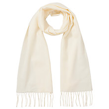 Buy John Lewis Cashmink Plain Scarf Cloned, Cream Online at johnlewis.com
