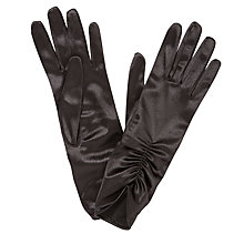 Buy John Lewis Ruched Satin Gloves Online at johnlewis.com