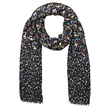 Buy John Lewis Graduated Floral Scarf, Black Multi Online at johnlewis.com
