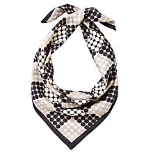 Buy John Lewis Check Spot Silk Square Scarf, Multi Online at johnlewis.com