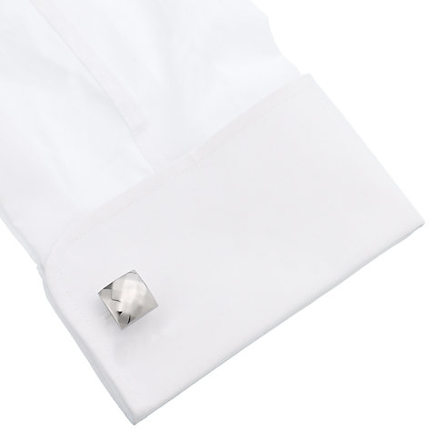 Buy Simon Carter Platinum Plated Square Cufflinks Online at johnlewis.com