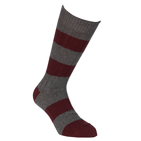 Buy JOHN LEWIS & Co. Rugby Stripe Socks, One Size Online at johnlewis.com