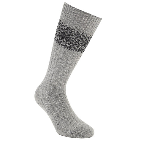 Buy JOHN LEWIS & Co. Fair Isle Socks, One Size Online at johnlewis.com
