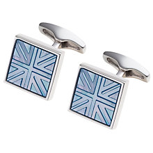 Buy Simon Carter Platinum Plated Mother of Pearl Cufflinks Online at johnlewis.com