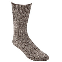 Buy JOHN LEWIS & Co. Merino Rib Boot Sock, One Size, Neutrals Online at johnlewis.com
